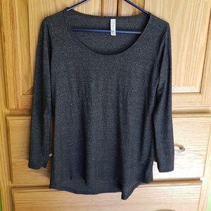 Lularoe XXS Long Sleeve Gray Top